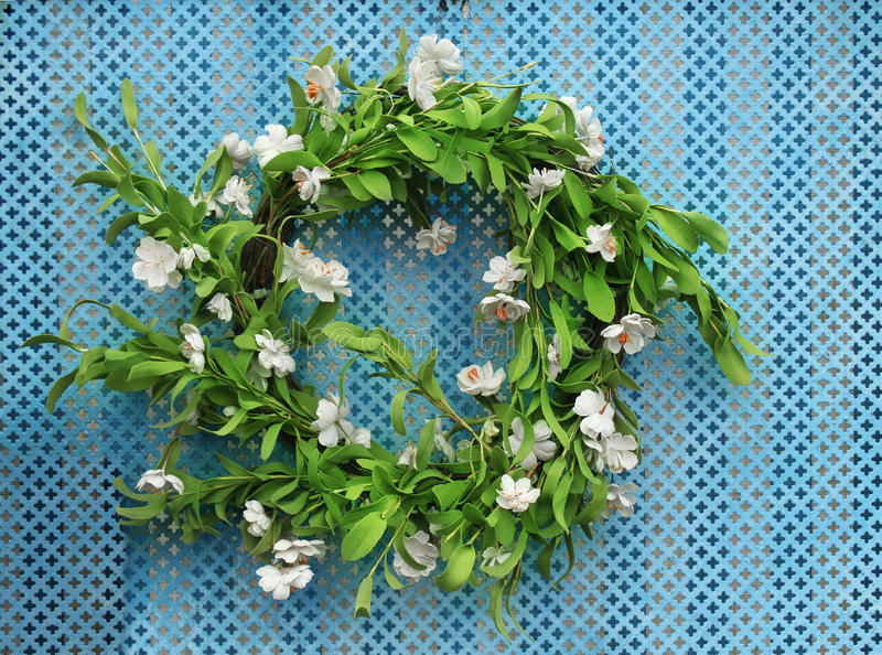 Wreath of flowers stock image