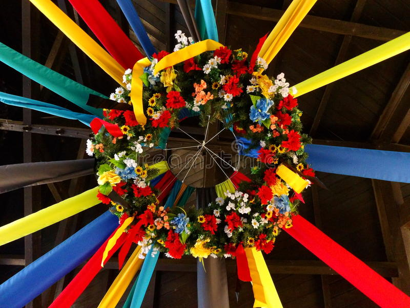 Wreath of flowers stock photos