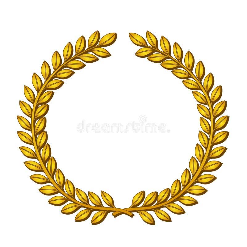 Download Wreath of laurels stock vector. Image of sign, eps8, gold - 15685928