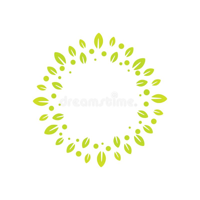 Sign of a wreath made from leaves, for decoration or as part of vector illustration