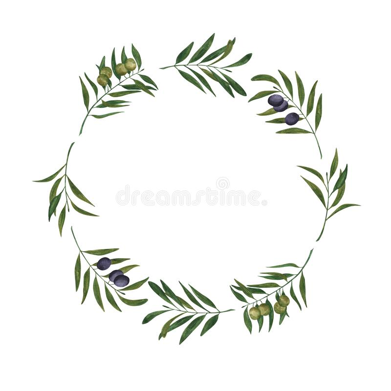 Wreath of olive branches vector illustration