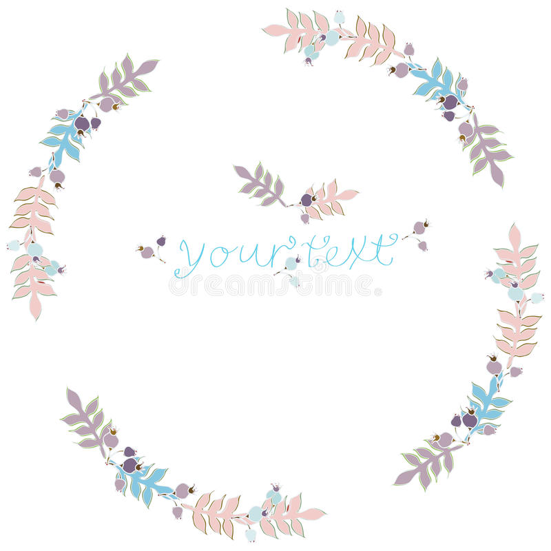Wreath pastel colors stock image