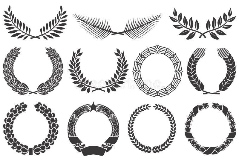 Wreath set vector illustration