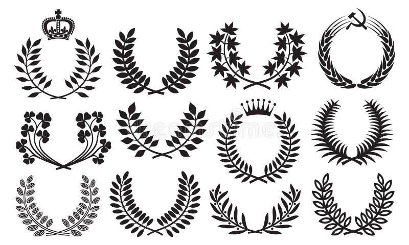 Wreath set stock illustration