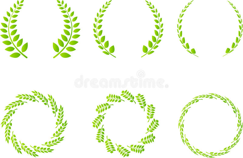 Wreath set. A vector drawing represents wreath set design royalty free illustration