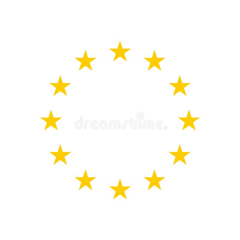 The wreath of stars of the EU isolated on white background. vector illustration