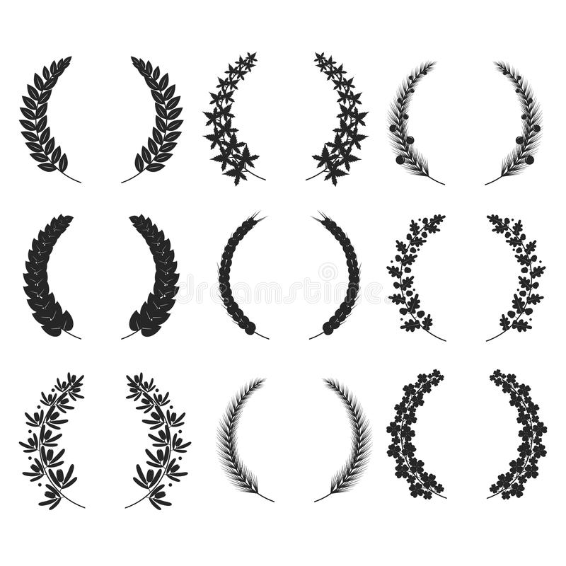 Wreaths isolated for your design vector eps 10 vector illustration