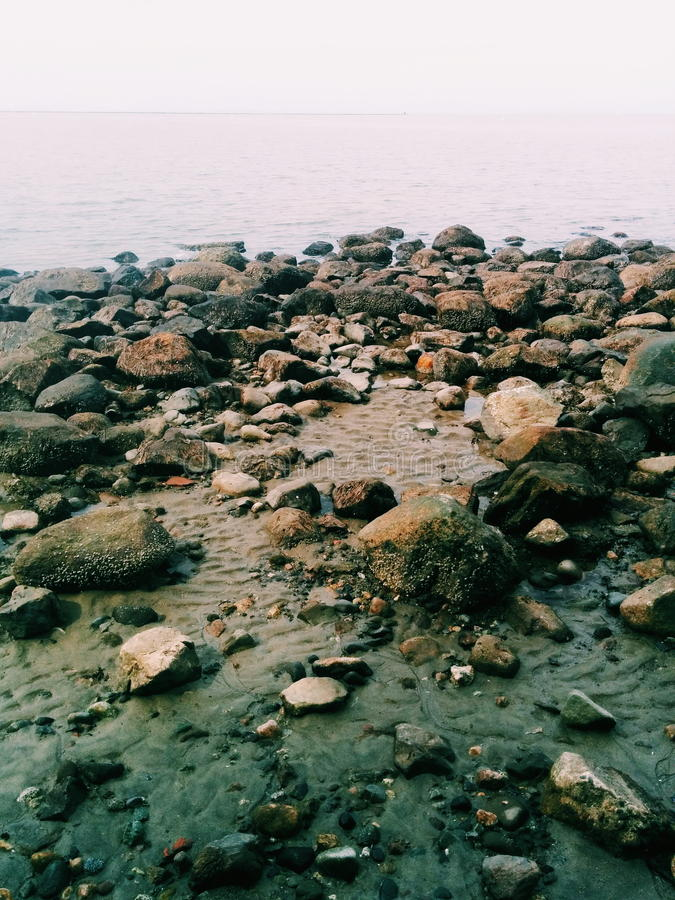 Wreck beach royalty free stock photo