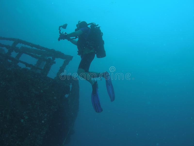 Download Wreck Diver stock photo. Image of camera, oceanic, wreck - 10941196