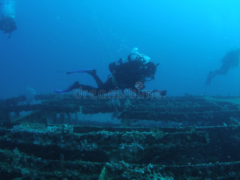 Wreck Divers stock image