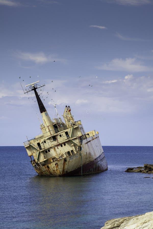 Wreck of the Edro III in Cypurus royalty free stock photos