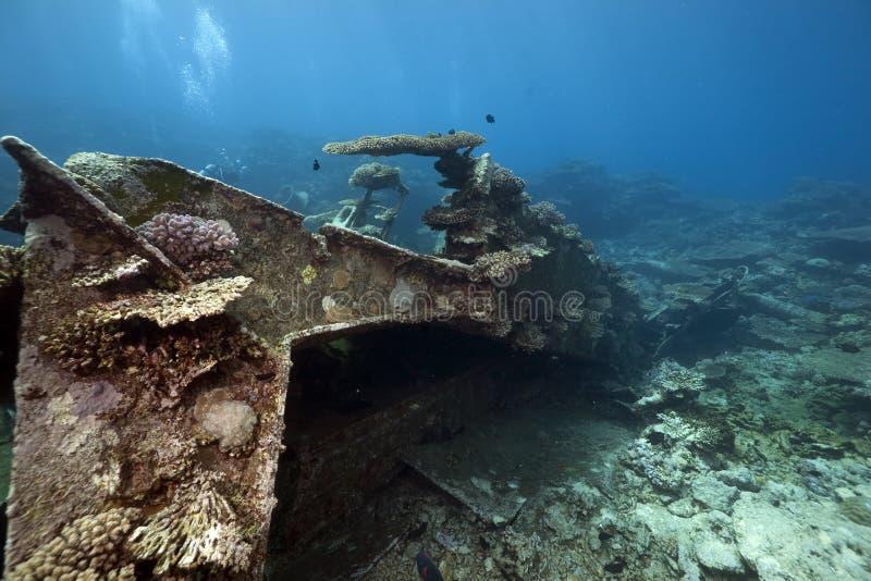 Wreck Freighter Kormoran - Sank In 1984 Tiran Royalty Free Stock Images