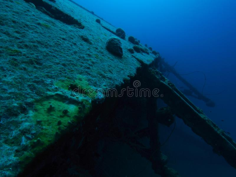 Wreck of the Hilma of the coast of Bonaire, Netherlands Antilles royalty free stock photography