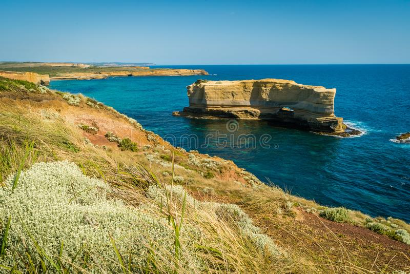 The wreck lookout in the twelve apostles in Australia in the summer stock photo