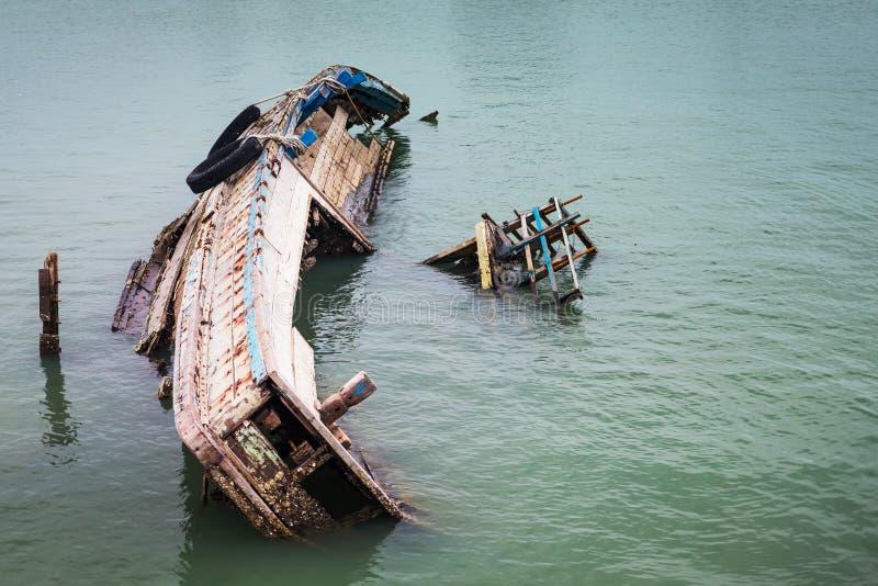 Wreck ship stock image