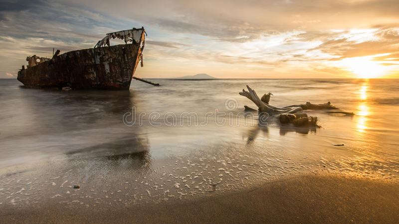 The Wreck, View of St. Vincent royalty free stock images