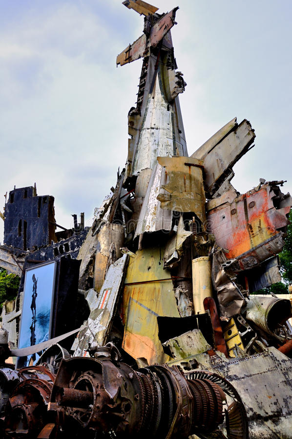 Wreckage Of The US B-52G Bomber Editorial Stock Photo