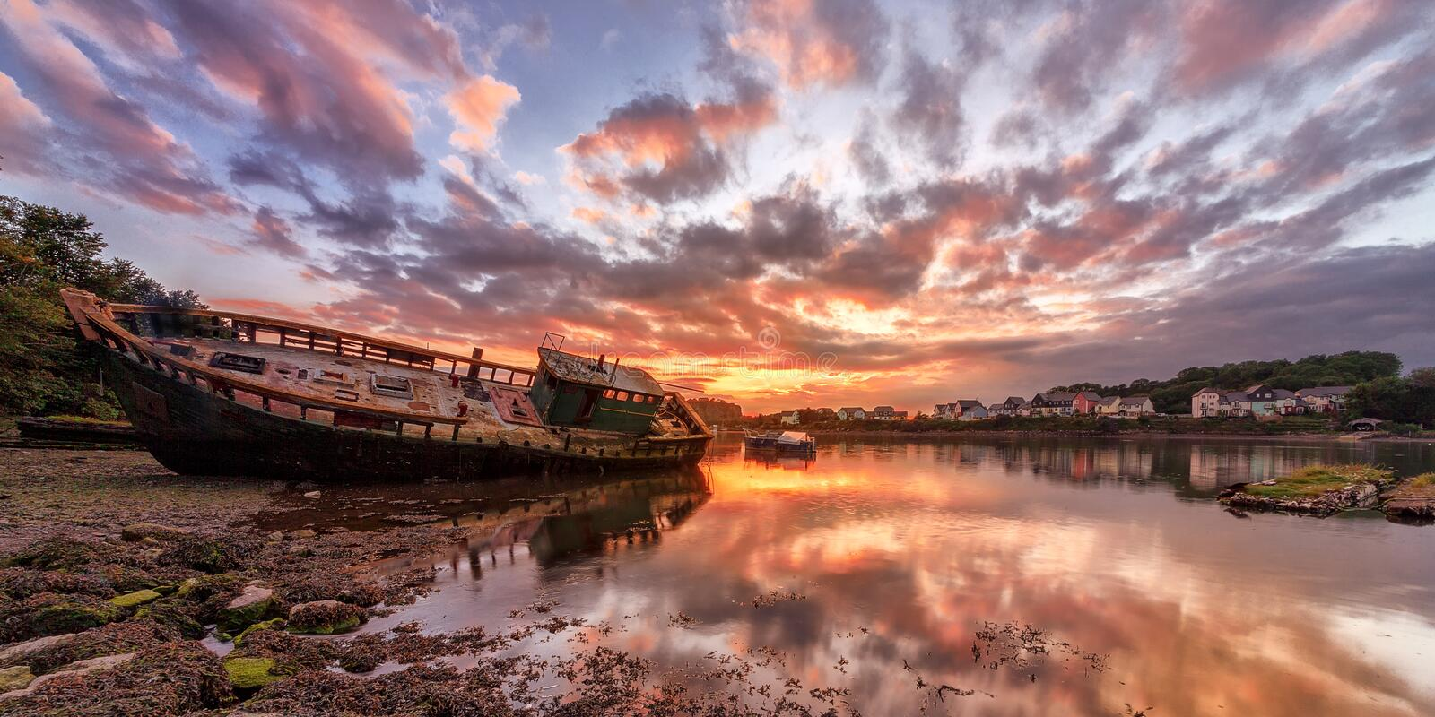 Download Wrecked stock photo. Image of england, reflection, water - 26619808