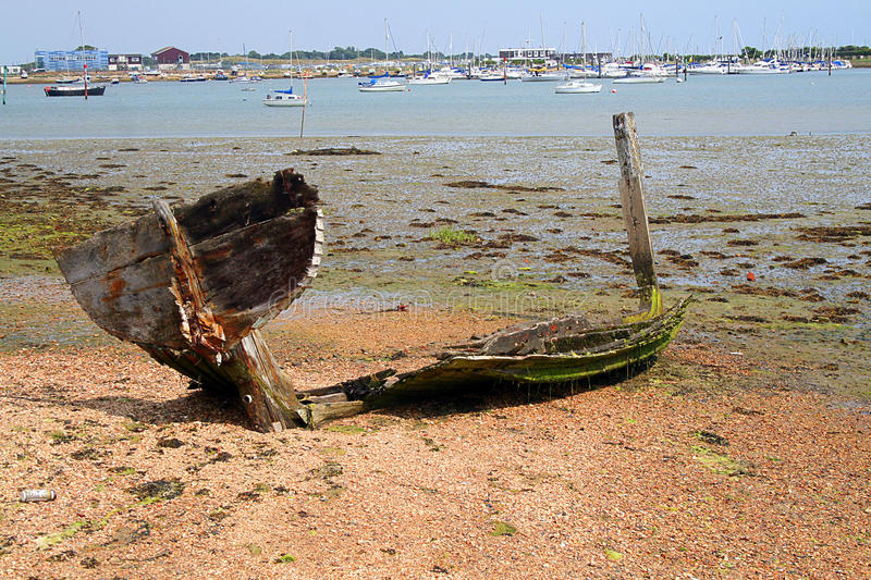 A wrecked boat stock photography