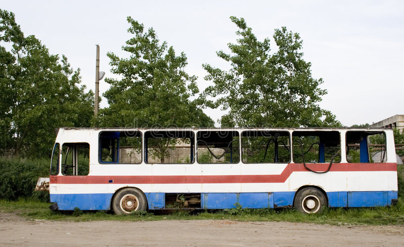 Download Wrecked bus stock photo. Image of environment, destroyed - 780290