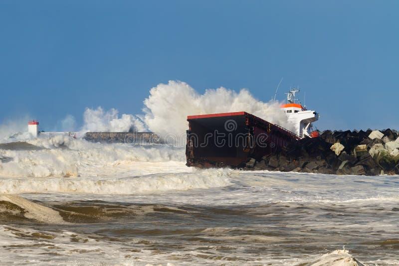 Wrecked Cargo royalty free stock photo