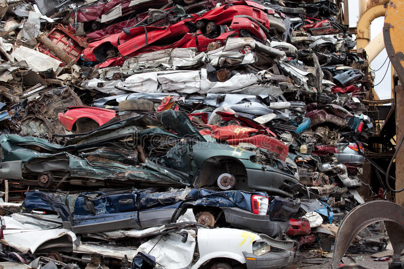 Wrecked Cars Royalty Free Stock Image