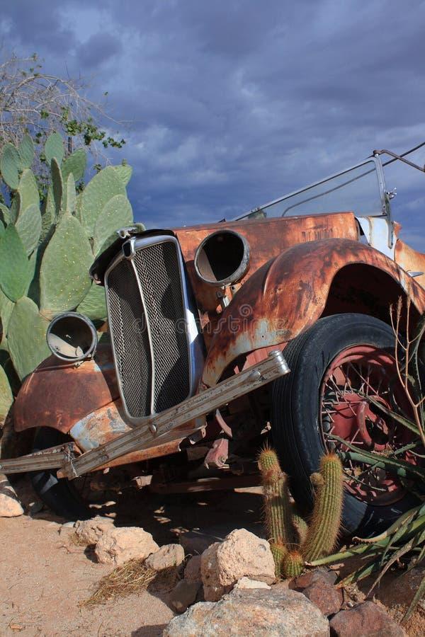 Wrecked oldtimer car namibia royalty free stock photos