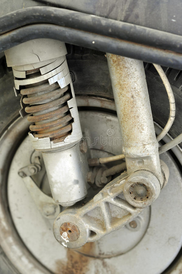 Download Wrecked shock absorber stock photo. Image of shock, cover - 11406420