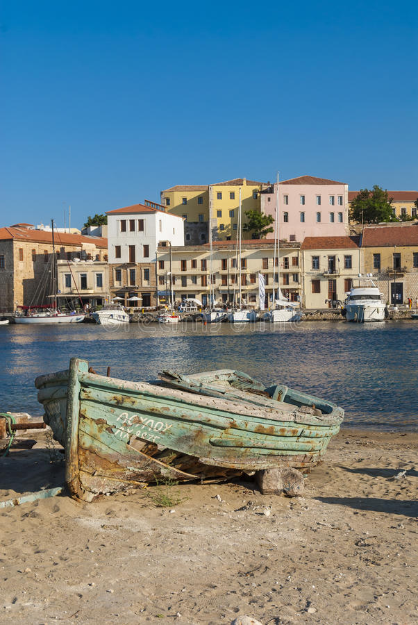 Download Wrecked wooden boat Chania editorial image. Image of crete - 39352335