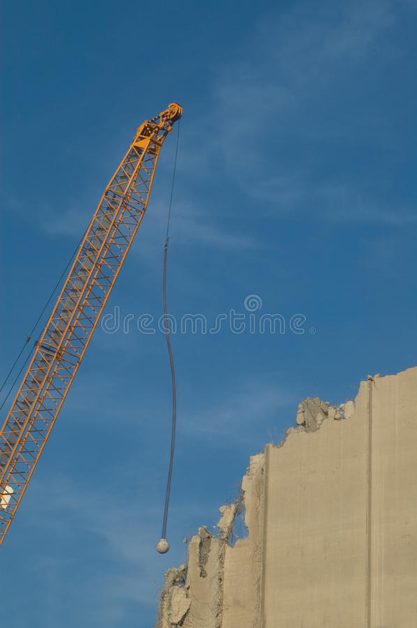 Download Wrecking Ball stock photo. Image of blue, demolition - 16178220
