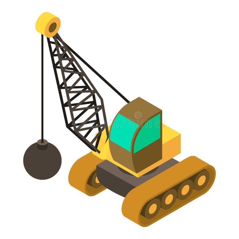 Free Wrecking Ball Crane Icon, Isometric 3d Style Stock Photo - 99896830