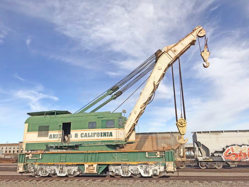 Wrecking Crane At Parker Railroad Yard stock photography