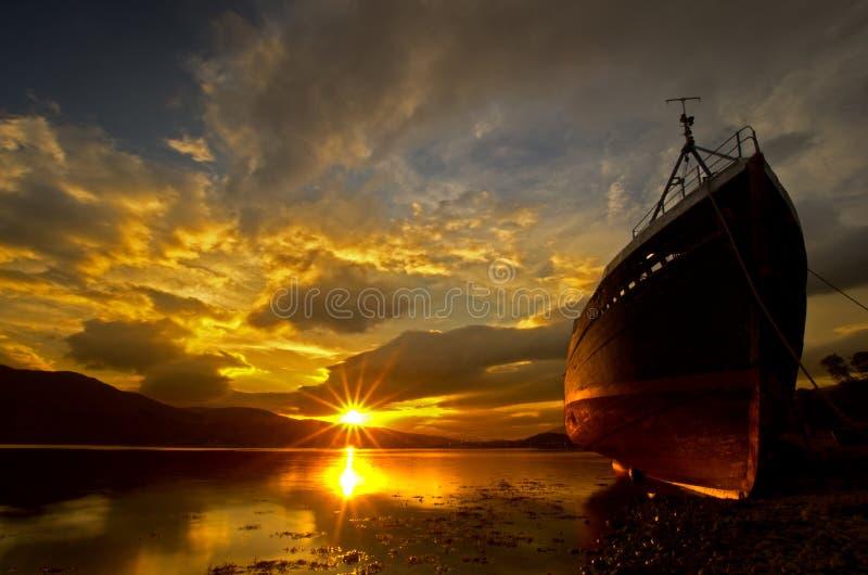 Wreckship - Fort William. Loch Eil wreckship Fort William Scotland UK stock photography