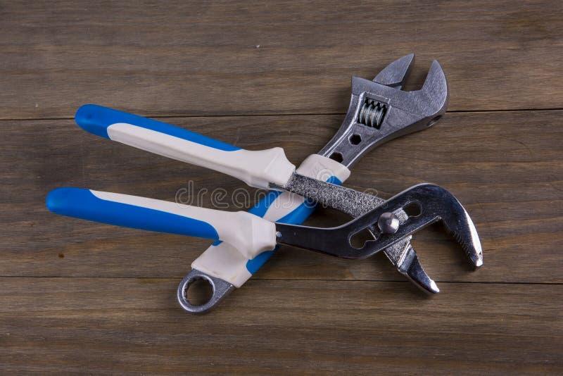 wrench Εργαλείο υδραυλικών στοκ εικόνες