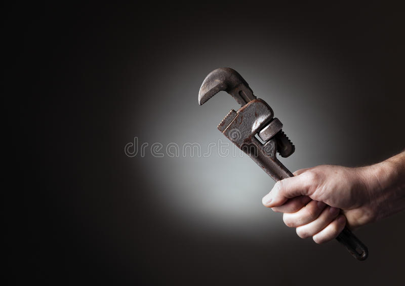 Download Wrench stock photo. Image of hold, wrench, worker, hand - 26305320