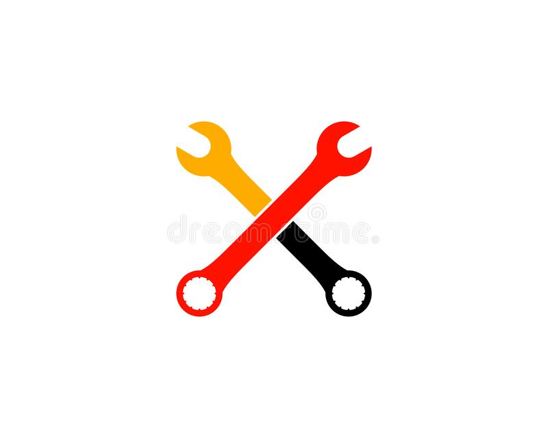 Wrench Automotive Repair Service Logo. Wrench logo stock illustration