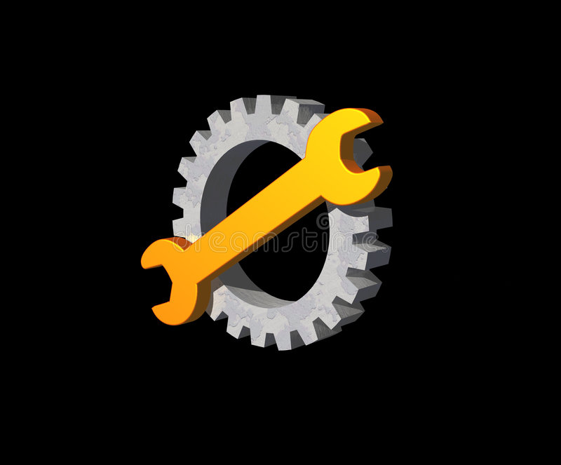 Download Wrench gear logo stock illustration. Image of logo, support - 5646895