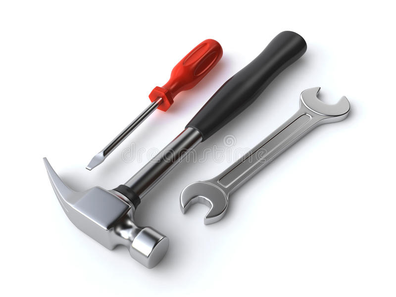 Download Wrench, Hammer And Screwdriver Stock Illustration - Image: 26565182
