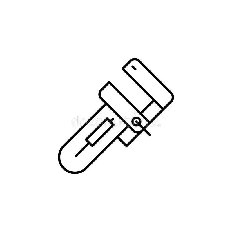 Wrench, maintenance icon. Simple thin line, outline vector of Construction tools icons for UI and UX, website or mobile. Application on white background vector illustration