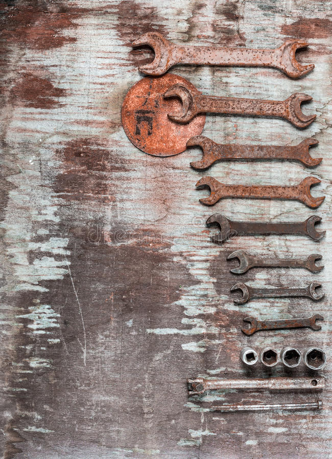 Wrenches, spanners set stock images
