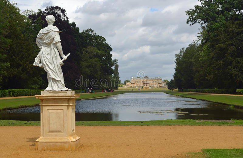 Wrest park French style mansion stock photos