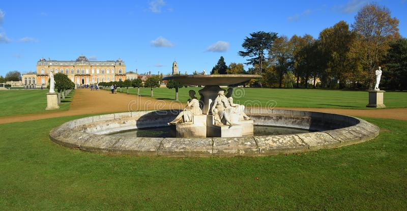 Wrest Park Silsoe Bedfordshire open to the public daily April to November lovely on a sunny Day. stock image