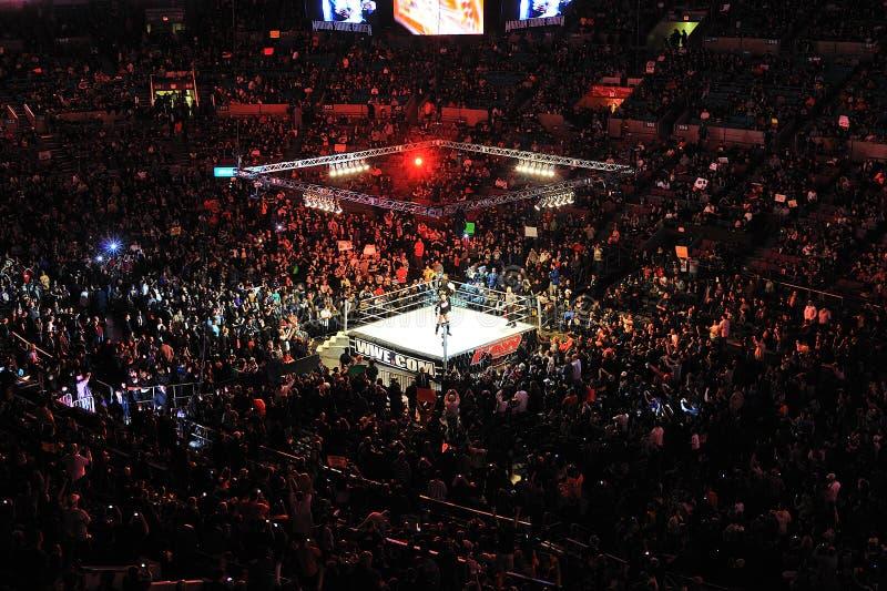 Wrestleling match at Madison square garden royalty free stock image