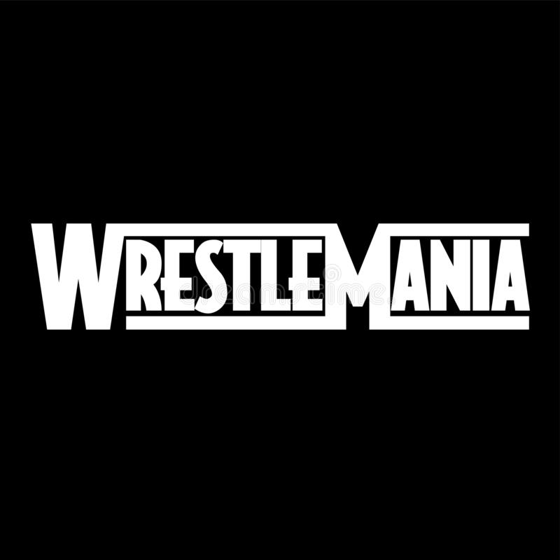 WrestleMania 35 库存例证