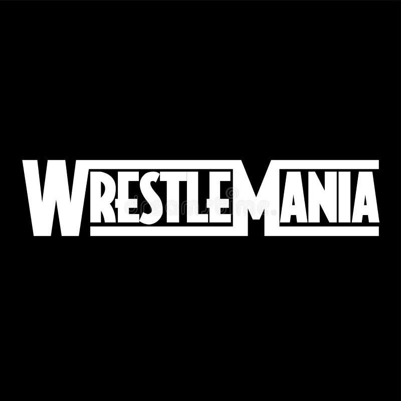 WrestleMania 35 illustration stock