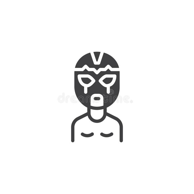 Wrestler man in wrestling mask vector icon. Filled flat sign for mobile concept and web design. athlete portrait simple solid icon. Symbol, logo illustration vector illustration