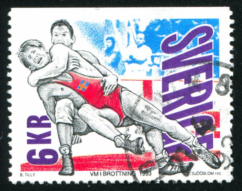 wrestling stock afbeelding
