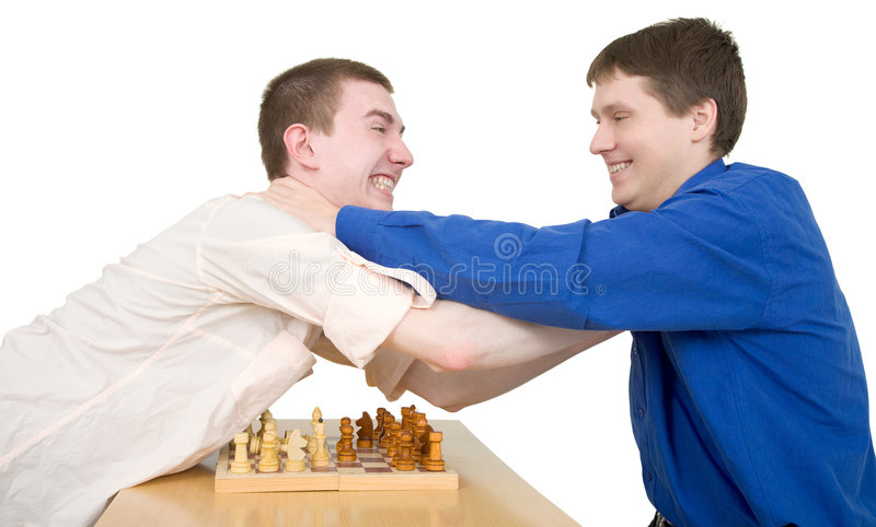 Download Wrestling Boys Ang Chess Royalty Free Stock Images - Image: 7823049