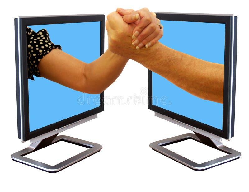 Wrestling de braço fotografia de stock royalty free
