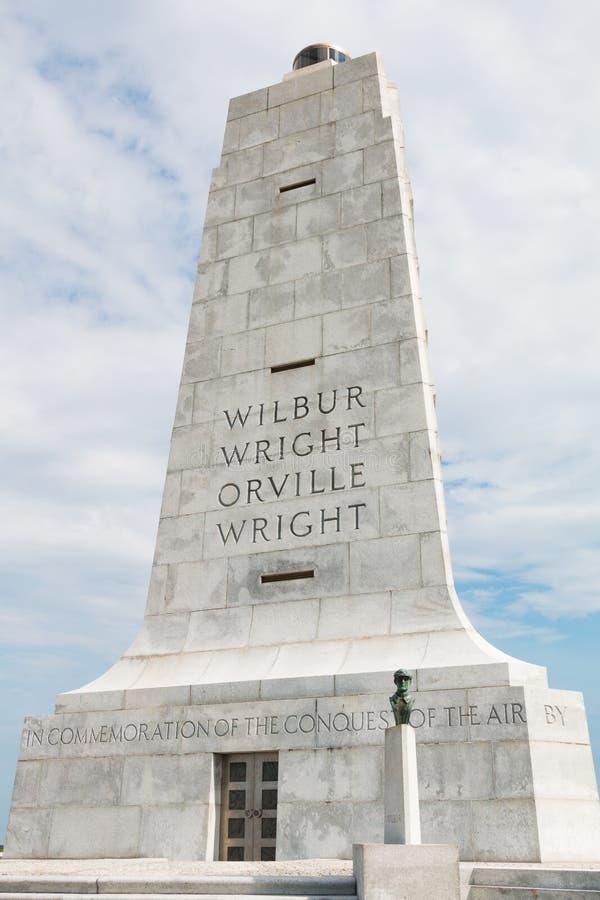 Wright braci Krajowy pomnik Upamiętniać Pierwszy loty zdjęcia royalty free